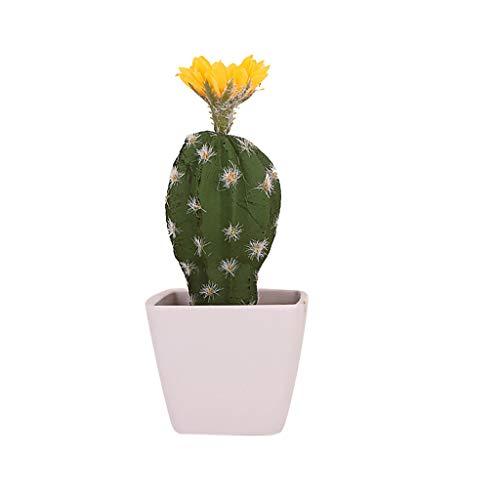 Lucky Mall Büro Dekoration Künstlicher Kaktus 1 Stück, Wohnaccessoires Künstliche Pflanze Blühender Kaktus Deko Künstlicher Grüne Topfpflanze