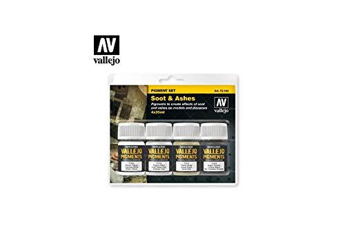 Vallejo 073193 Pigment-Set Ruß und Asche -