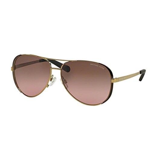 Michael Kors Damen Chelsea MK5004 Sonnenbrille, Gold/braun-rosa verlauf 101414), Large (Herstellergröße: 59)