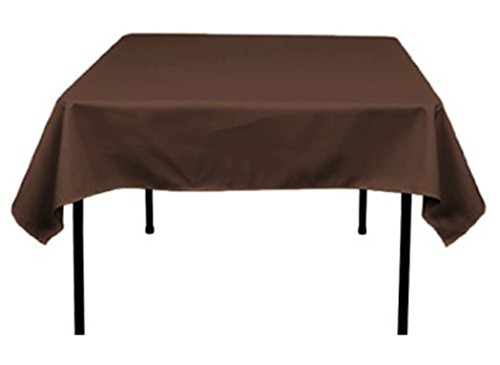 Tektrum 137,2x 137,2cm 137,2x 137,2cm Tischdecke, quadratisch, Polyester-stark/Robust/langlebig Stoff-Schokolade Farbe - Tischdecke Schokolade Quadratische