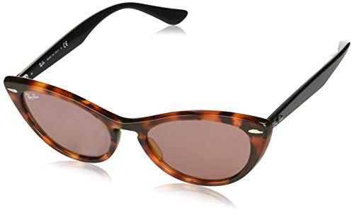 Ray-Ban Damen 0RB4314N Sonnenbrille, Braun (Havana Red), 53