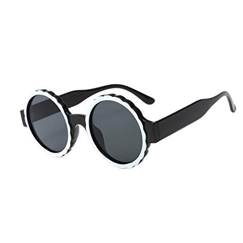 Hniunew Mode Sonnenbrillen Runde RandgläSer Schutzbrille Sommer Damen Herren Unisex Strandspiegel Sonnenbrille Im Freien StraßE Vintage Retro Mode Katzenauge Brille Sunglasses Sun Glasses