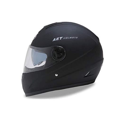 Feiyue Full Face Motorrad-Helm-Motorrad-Spezialhelm-Mit Doppel-Linsen (Sonnenbrillen und HD-Anti-Fog-Linsen)-Anti-Kollision-Anti-Nebel-geeignet für Motorrad-Fahren,Black