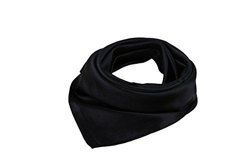 Sciarpa Quadrata Satin Colore Puro 52*52 cm Multicolore nero