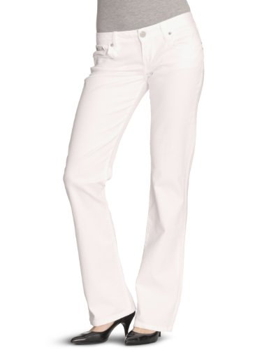 LTB Jeans Damen Valerie Jeans, Weiß (White 100), W25/L32 - Womens Flare Pant