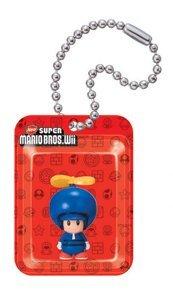 Blauer Propellerhelm Toad Blister New Super Mario Bros. Wii Gacha Schlüsselanhänger Ball Chain Anhänger (Mario Bros Toad)