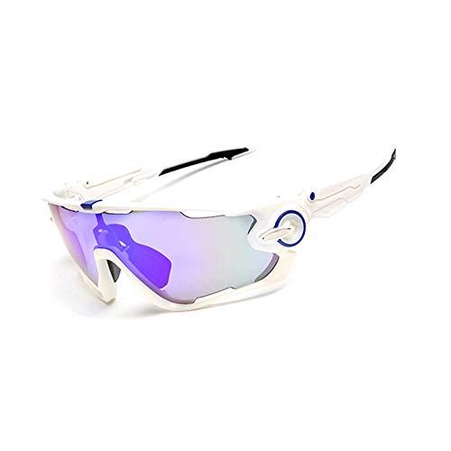 KnSam Winddicht Uv-Beständig Sonnenbrille Transparent Kratzfester Scheibe Panoramablickfeld Weißer Blauer Nagel Schutzbrille