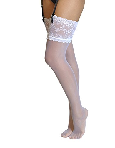 Calze per reggicalze sposa | lingerie sposa | intimo sposa | calze sexy donna | bianco, avorio, naturale | made in italy (s = 1/2, bianco)