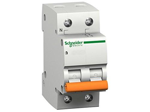 Schneider electric 12515-6ka domae mcb, 2p (10a) curva c