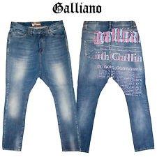 john-galliano-mens-newspaper-print-chicey-goes-jogging-drop-crotch-blue-stonewash-jeans-size-w31-rrp