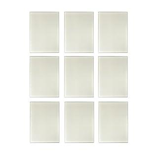 BD ART Set of 9 Glass Rectangular Wall Mounted Mirror Tiles for Bathroom Kitchen Bedroom