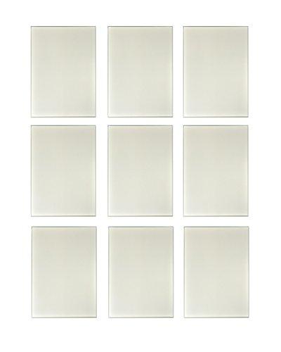 9 Stück Spiegel aus Glas je 21 x 30 cm Wanddekoration Wandspiegel