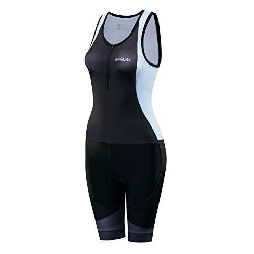 logas Damen Kurzarm Triathlon Rennanzug/Trisuit Radfahren Skinsuit Trocknen Schnell Breathable für Schwimmen Laufen & Training