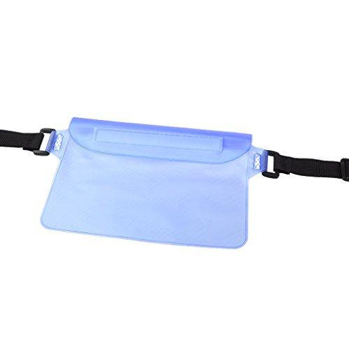 Wasserdicht Taille Beutel Trocken Hüfttasche Reise Strand Schwimmen Bauchtasche Gürteltasche Lauftasche Blau