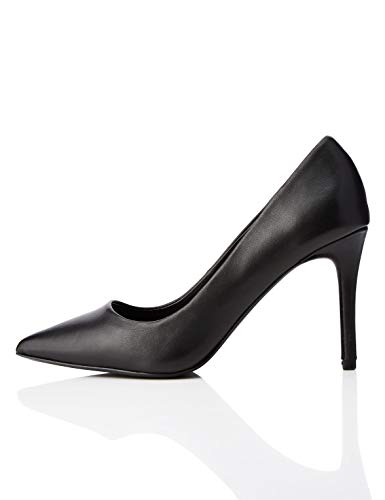 find. Point High Heel Leather Court Scarpe con Tacco, Nero Black), 39 EU