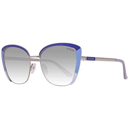 Guess Unisex-Erwachsene GU7585 92B 55 Sonnenbrille, Blau (Blu),
