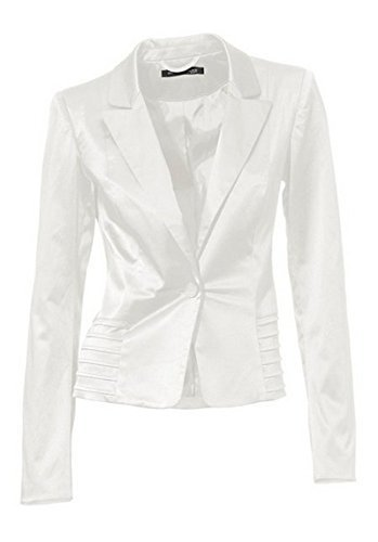 Blazer Satinblazer von Ashley Brooke in Offwhite - Gr. 40