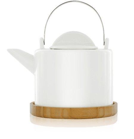 KUSMI Tea / Løv ORGANIC - Porzellan Løvely Teekanne / Teapot - Kapazität: 1,2 Lt Boch Bouquet