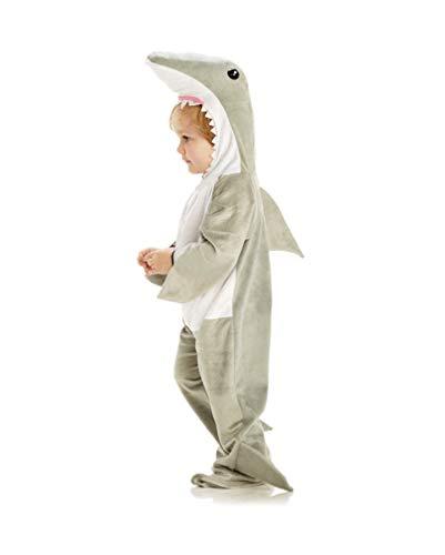 Horror-Shop Weißer Hai Kindekostüm als Faschingskostüm für Kleinkinder XL