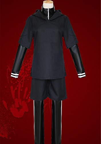 Kostüm Cosplay Kaneki - HZ andi Tokyo Ghouls Ken Kaneki Cosplay Kostüm, Kleidung, Tokyo Ghouls Kleidung, japanische Anime, Männer/Frauen 4 Sätze,M