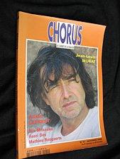 Chorus, les cahiers de la chanson, n° 41 - automne 2002 : Jean-Louis Murat - Allain Leprest - Rita Mitsouko - Henri Dès - Mathieu Boogaerts