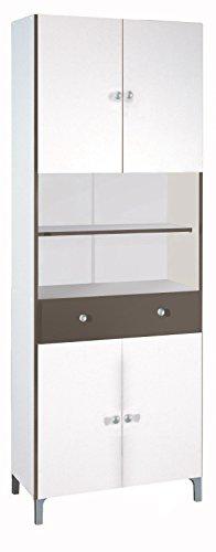 Hochschrank 540 weiß basalt Küchenschrank Küchenregal Schrank Küche Buffet Regal