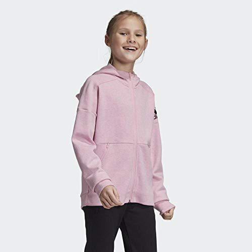 adidas Performance ID Stadium Trainingskapuzenjacke Kinder rosa, 128