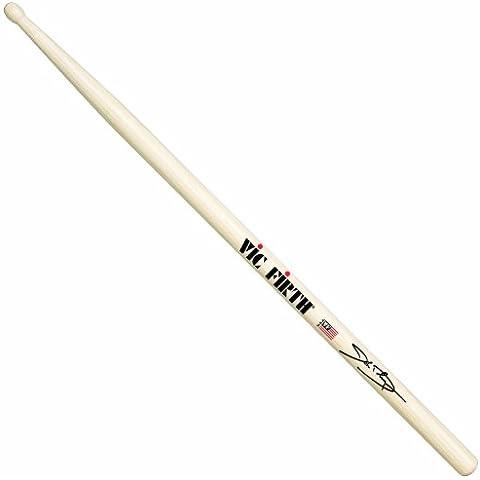 Vic Firth John Dolmayan Signature - Bacchette per batteria con testa di legno, in hickory americano