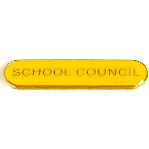 4x 0,8bar Badge scuola Consiglio, Yellow - Personalizzati Pin Badge