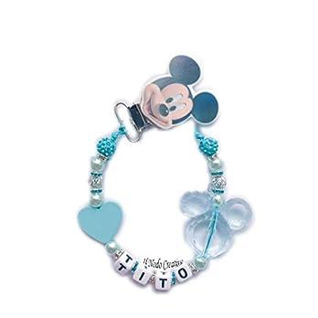 SchnullerKette mit Wunschnamen Mickey Mouse Disney | anpassbare Name