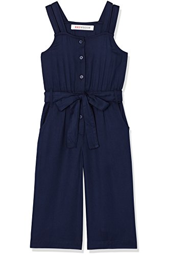 RED WAGON Girl's Waist Tie Jumpsuit, Blue (Maritime Blue), 10 Years