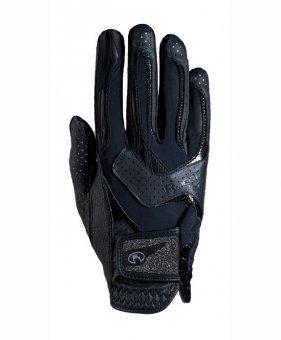 Roeckl Sports Damen Handschuh -Lara- Damenreithandschuh, Schwarz, 7 - Lara Design