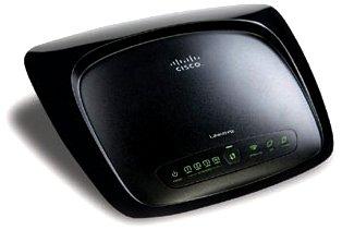 Cisco Systems Wireless-G ADSL2+ Gateway Annex A IAS Fast 4 x RJ45 Switch + 1 x ADSL-Modem + Access Point