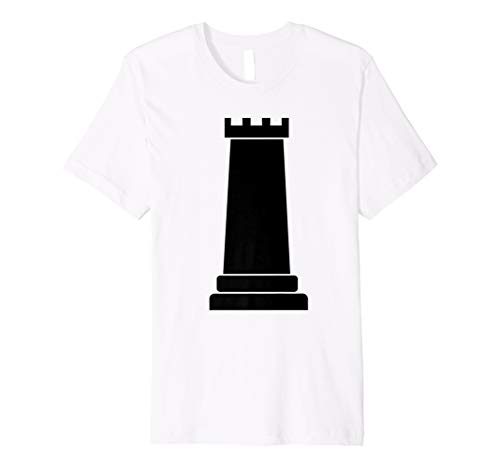 Schachfigur Gruppe Kostüm Shirt-Rook schwarz