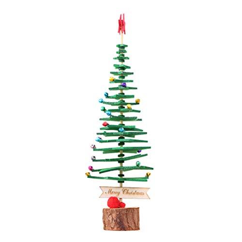 Amosfun Weihnachtsbaum DIY Vliesstoff Produkte Mini Weihnachten Material Paket Kits Weihnachtsbaum Decor (grün)