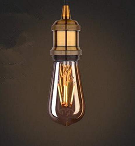 LED-Edison-Glühbirne, Retro-Nostalgie, E27, große Schraube, warmes gelbes Licht, Wolfram-Filament, Drachen-Ball, kreativ, warmweiß, 1W