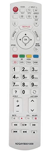 ALLIMITY N2QAYB001009 Fernbedienung Ersetzte für Panasonic LCD LED TV TX-24CS500B TX-24CS500E TX-32CS510E TX-32CS600B TX-40CS520B TX-40CS520E TX-40CSR520 TX-40CSW524 TX-42CSR610 TX-50CS520E TX-50CSR52
