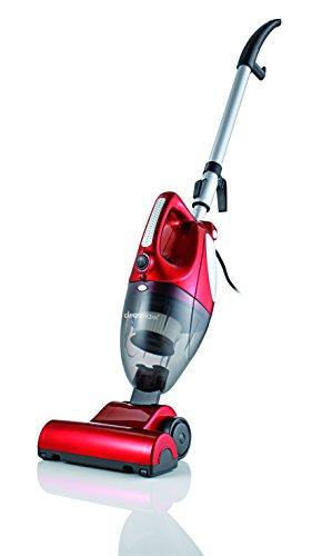 CLEANmaxx 00157 Turbo Hand-Bürstenstaubsauger| 800W  | Beutellos | rotierende Bürste | Rot |HEPA Filter