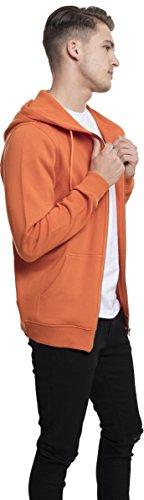 Urban Classics Basic Zip Hoody, Felpa Uomo Orange (Rust Orange 1150)