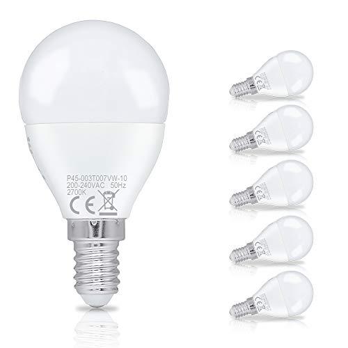 HENGDA 3W LED Birnen ersetzt 40W Sockel E14 250Lumen warmweiß (2700K) 6er Pack Energiesparlampe LED - Glühlampe Kugel Birnen