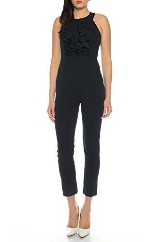 Dress Sheek Damen Elegant Overall Jumpsuit (Schwarz, S)