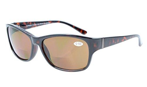 Eyekepper Bi-Focal Sonne Leser modische Bifokale Sonnenbrillen Tortoise/Braun Linsen +2.5