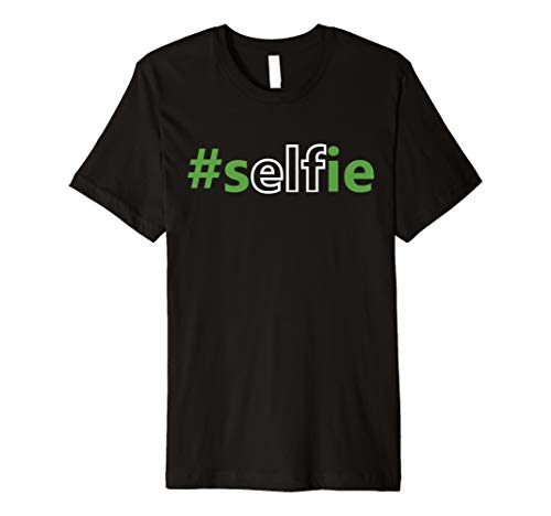 Elfie Selfie Elf Kostüm auf der Regal mit Hat Funny ()