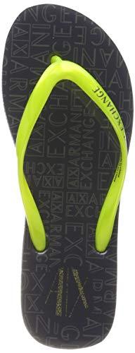 ARMANI EXCHANGE Rubber Slide Multicolor, Infradito Donna, Verde (Lime+ Dk Grey 00057), 38 EU