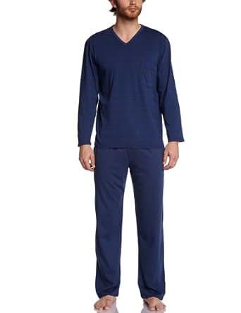 eminence ensemble de pyjama homme bleu rayures bleu bas bleu 4 v tements. Black Bedroom Furniture Sets. Home Design Ideas