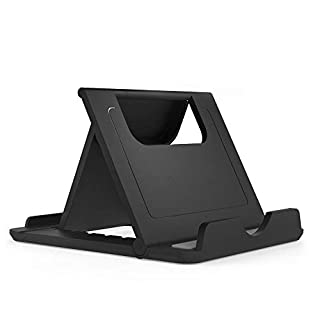 DFV mobile - Holder Desk Universal Adjustable Multi-angle Folding Desktop Stand for Smartphone and Tablet for => SMARTISAN NUT PRO 2 > Black