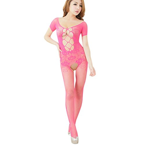 Damen Lingerie SUCES Loch Nachthemd Nachtkleid mit G-String Spitze Transparent Versuchung Brust...