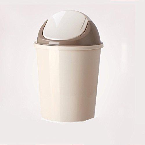 LYL Accueil Salon Salle de bain Toilette Cuisine créative Poubelle Taille Nombre de canon sans pied avec un couvercle (Couleur : Gris)