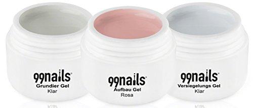 99Nails arco Gel de color rosa, 3Pack (3x 15ml)