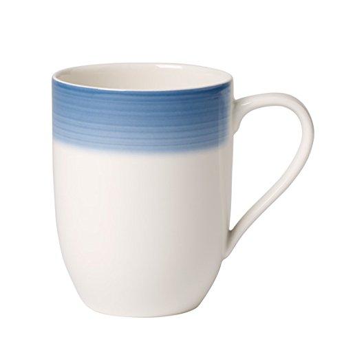 Villeroy & Boch Colourful Life Winter Sky Kaffeebecher, 370 ml, Höhe: 10,2 cm, Premium Porzellan, Blau